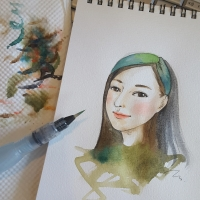 water color portrait 08