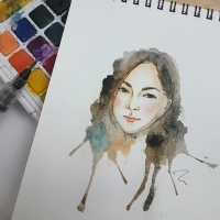 water color portrait 10
