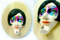 face sculpture-funny woman