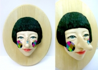 face sculpture-funny woman02